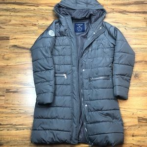 US polo coat puffier jacket Long